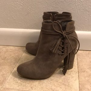 Shoes - Taupe ankle boots